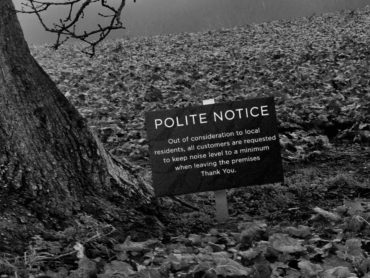 Oak Tree with Polite Notice