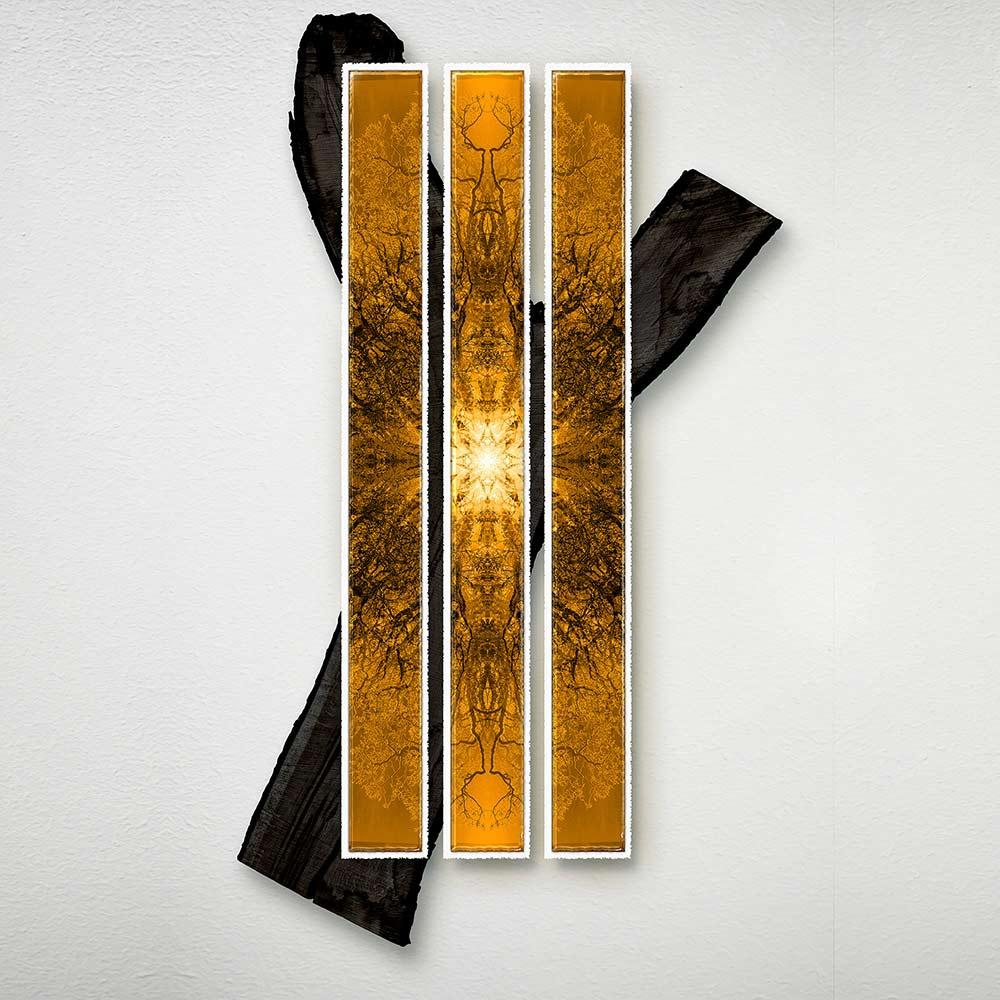 Symmetree Tripomatic Fall<br/> Print in Resin on Oak 190x111 cm